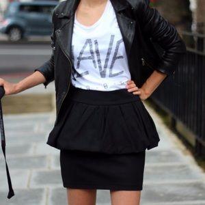 Zara   Black Layered Peplum Mini Skirt
